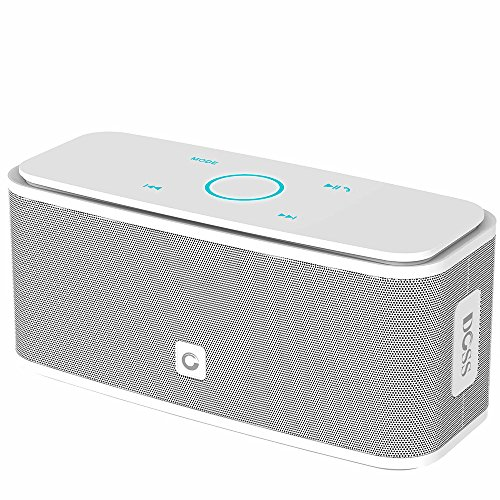 DOSS SoundBox Bluetooth Speaker, Portable Wireless Bluetooth 4.0 Touch Speakers with 12W HD Sound and Bold Bass, Handsfree, 12H playtime for Echo Dot, iPhone, iPad, Samsung, tablet, Gift ideas[White]