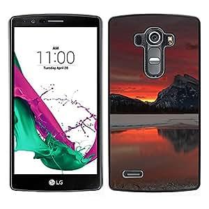 All Phone Most Case / Oferta Especial Duro Teléfono Inteligente PC Cáscara Funda Cubierta de proteccion Caso / Hard Case LG G4 // Red Glow Sunset