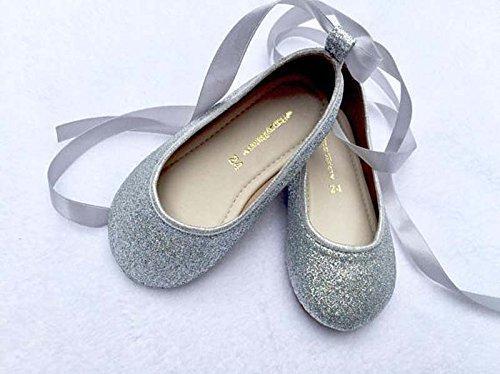 Amazon.com  Sliver sequin shoes Glitter sliver shoes Girl shoes Flower girl  sliver shoes Girls glitter shoes Girls flat shoes  Handmade 3af66e3ffbd2