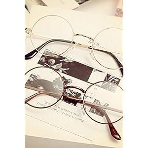 Generic Retro_ glasses_BOX_ women _tide_Korean_style_of round_ short-sighted_ glasses_frame eyes full-box box_flat_light_mirror_minimalist