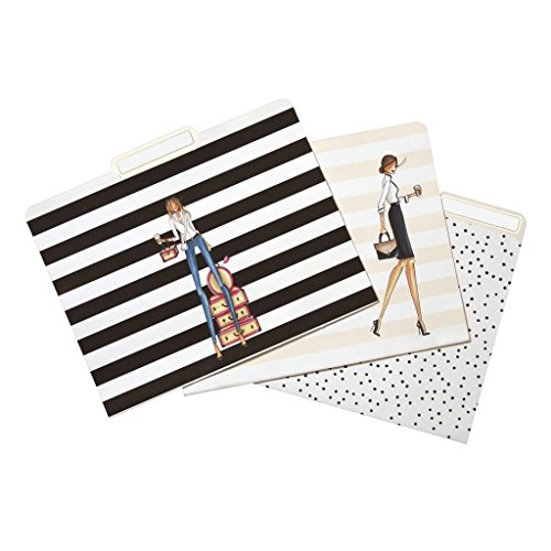 "C.R. Gibson 9-Count File Folders, By Winks, Includes 10 Adhesive Labels, Measures 11.5"" x 9.5"" - Fashionista"