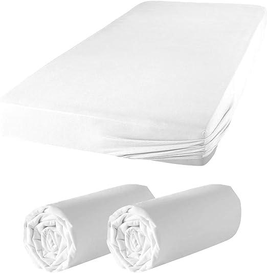 Spannbettlaken Spannbetttuch Doppelpack Jersey 100/% Baumwolle Bettlaken 2 x ARLI