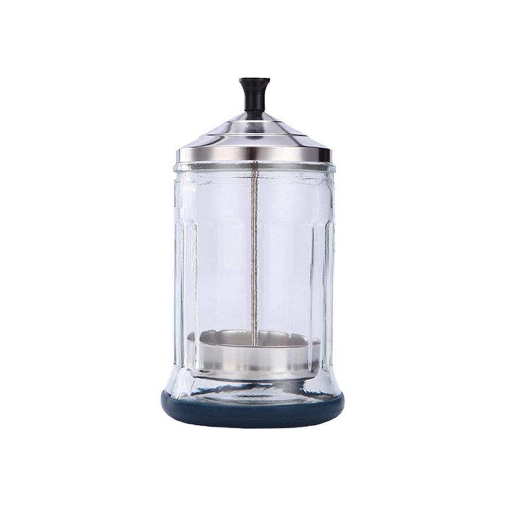 Janedream Small Glass Salon Disinfection Jar Sterilization Container Sanitizer for Barber Shop
