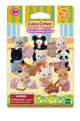 Calico Critters CC1833 Baby Collectibles Bundle - Baby Shopping Series (3 Blind Bagsper Bundle), ()