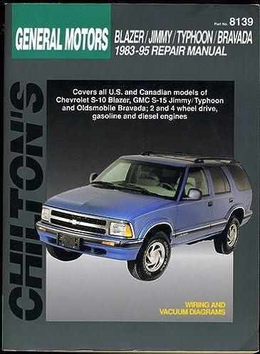 general motors blazer jimmy typhoon bravada 1983 95 chilton s rh amazon com Haynes Repair Manuals Mazda Haynes Repair Manual 1987 Dodge Ram 100