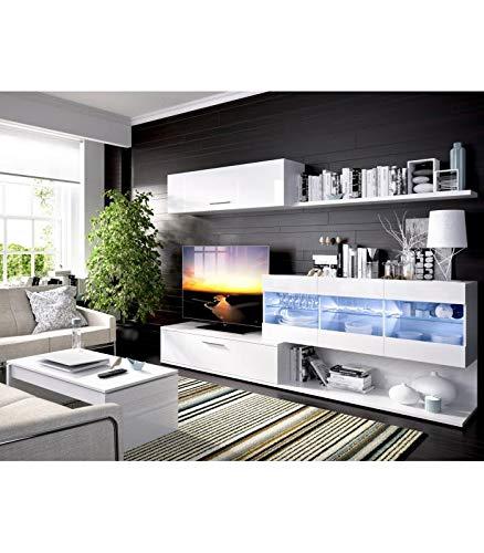 HABITMOBEL Mueble de salón Comedor Moderno con Leds, Medidas ...