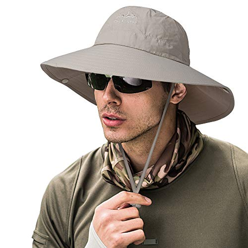 - ZOORON Fishing Bucket Hat for Men,Waterproof Wide Brim Boonie Sun Hat UV Protection