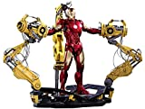 Hot Toys Marvel Iron Man 2 Iron Man Mark IV Diecast Figure with Suit-up Gantry 1/6 Scale Figure Set