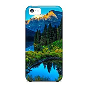 Durable Defender Cases For Iphone 5c Tpu Covers(hdr Mountains Lake)