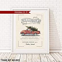 PERSONALIZED Christmas Family Sign for Home - Family Farm - 11x14 Print - Great for Holiday Decor