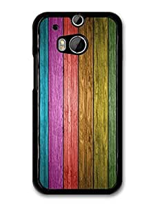 Apple Logo Colored Wood Pattern case for HTC One M8 by ruishername