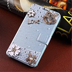 ZXC Wind-induced handmade diamond appearance flip phone sets are suitable for samsung S5/i9600 gm , White
