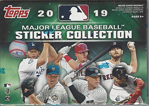 - 2019 Topps MLB Baseball Sticker Collection BLASTER box (10 pks/bx, 40 total stickers per box)