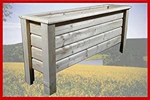 Maceta de madera Classic 80x 40x 50cm barnizado con barniz para madera incoloro