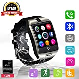 Bluetooth Smart Watch with Camera ,Waterproof Smart Watch,Touch Screen Smart Watch Support Iphone and Android Smartphones Samsung Iphone 7 Plus 6S for Kids (Black)