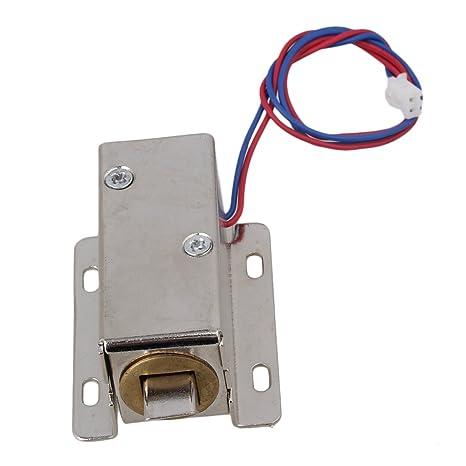 BQLZR 12 V cerradura eléctrica montaje solenoide para puerta cajón cerradura lengua hacia abajo