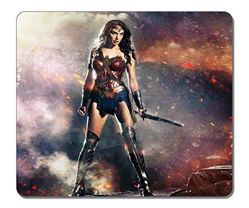 Price comparison product image [New Arrival] Rectangle Non-Slip Rubber Large Mousepad Dawn Of Justice 2016 Wonder Woman Poster [Water Resistent] Gaming Mouse Pad Large Mousepad Customized Gaming Pad Large Mouse Pads