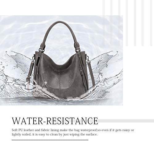 KL928 Purses for Women Shoulder Handbag Top Handle Hobo Tote Bags, PU Leather