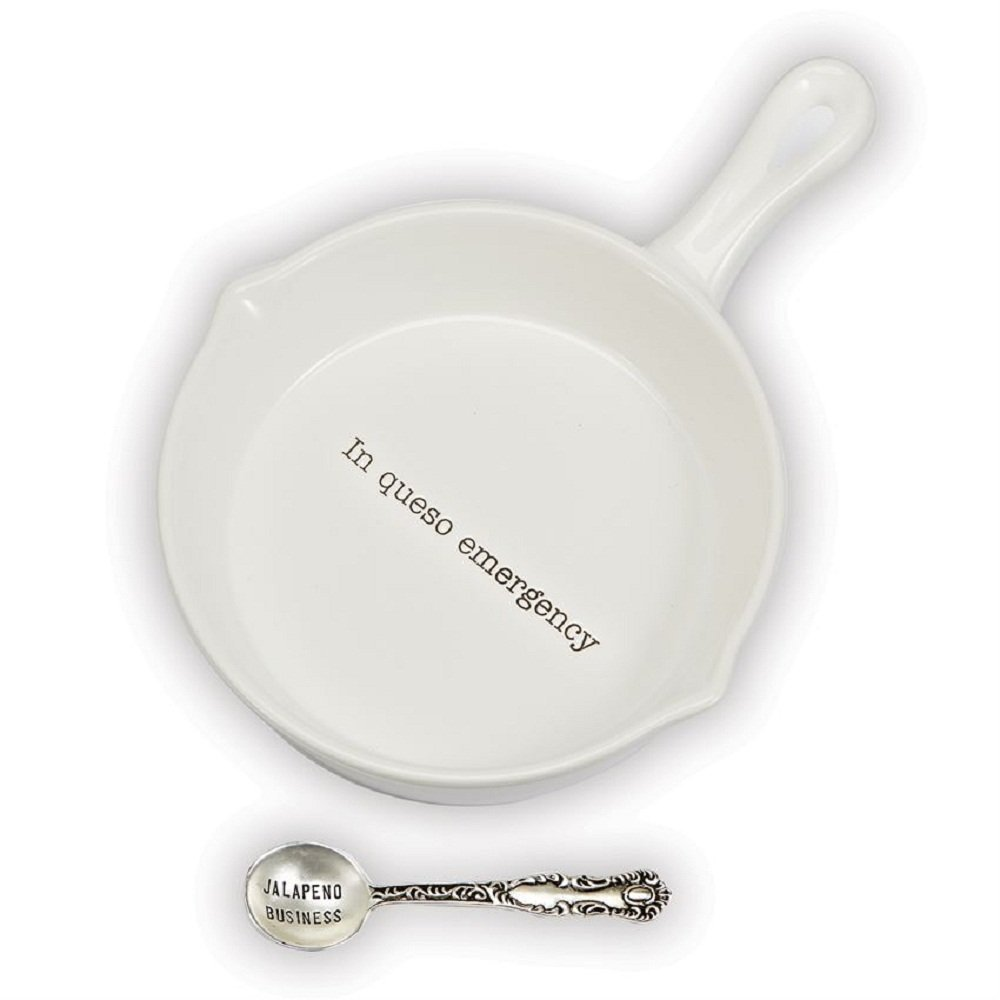Mud Pie 4851117 Queso Serving Set, One Size, In Queso Emergency