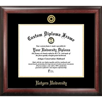 Amazon.com: Rutgers Gold Embossed Diploma Frame: Sports & Outdoors