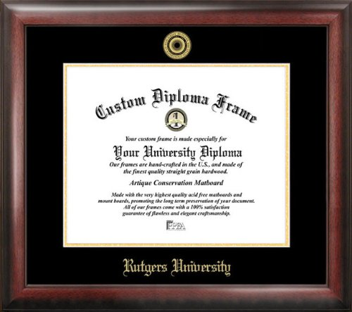 Rutgers Gold Embossed Diploma Frame by Campus Images