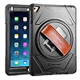 iPad Pro Case - New Trent Gladius Pro iPad Case for iPad Pro 9.7 inch tablet with 360 Degree Rotatable [Rugged: Shock Proof] - Built-in Stand - Screen Protector and Leather Hand Strap