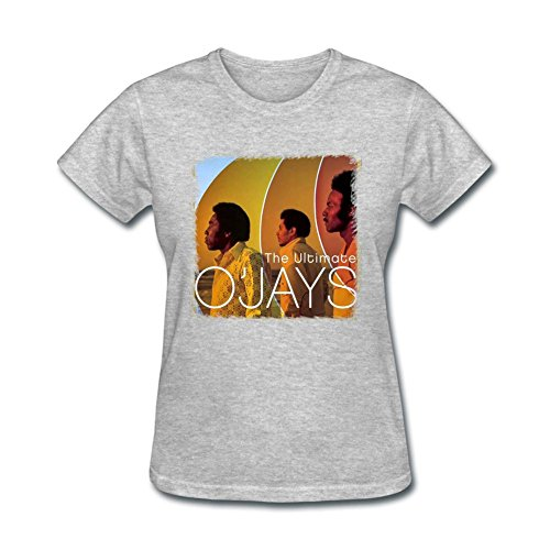 - SAMJOSPH Women's The O'Jays The Ultimate O'Jays T-shirt Size L Grey