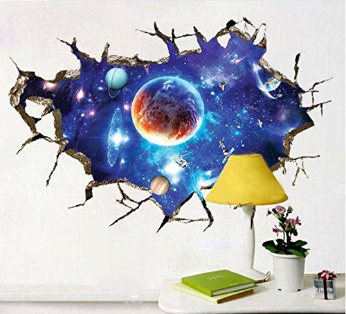 Pianeti 3D Cosmo Una collezione di pianeti Impostato Camera da letto removibile Murale Asilo nido decalcomania arredamento Bambino Arte Adesivo da parete Adesivi Decorazione bambini Dekoracje-online.pl