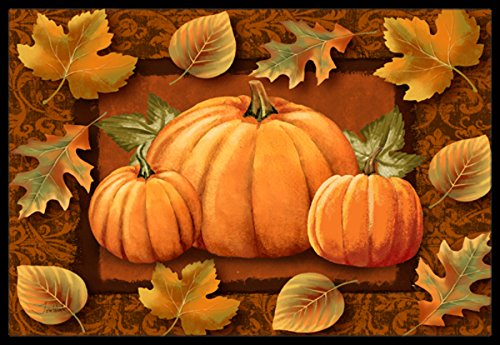 Caroline's Treasures PTW2009MAT Pumpkins and Fall Leaves Indoor or Outdoor Mat, 18 x 27, Multicolor by Caroline's Treasures