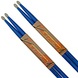 2 pairs (4 sticks) of 5a professional drumsticks (Blue)