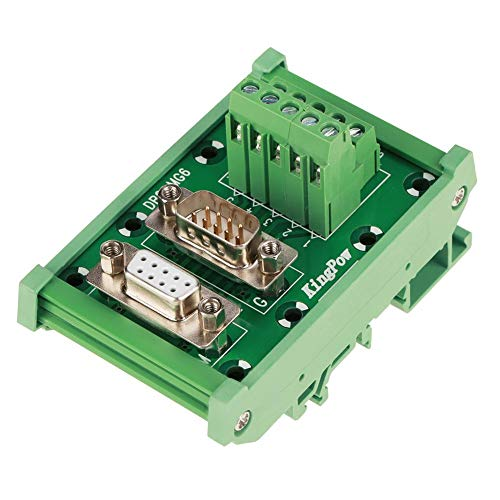 DB9 Breakout Board,DB9-MG6 DIN Rail Mount Interface Module Male/Female Connector Breakout Board