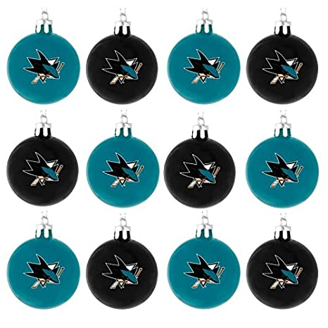 NHL Ball Ornament (Set of 12) NHL Team: Chicago Blackhawks Forever Collectibles