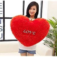 Pandora Frantic Huggable Heart Shape Soft Plush Stuffed Cushion Pillow Toy (Red)