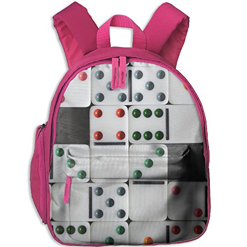 Dominoes Dice Board Games 3D Mini Pink Blue Choice Children School Bag Book Backpack Outdoor Travel Pocket Double Zipper