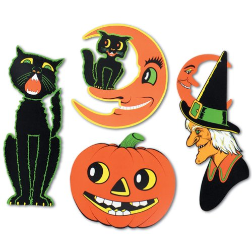 80s Halloween Decorations (Pkgd Halloween Cutouts  )