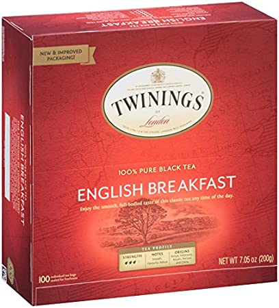 Twinings of London English Breakfast Black Tea Bags, 100 Count