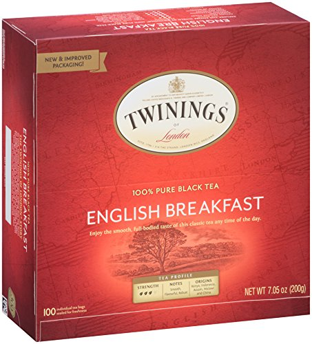Twinings Tea, English Breakfast, 100 Count, 7.05 oz (Nook Breakfast Sale)