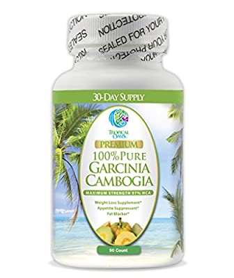Premium Garcinia Cambogia - Maximum Strength 97% HCA - 1500mg of 100% Pure Garcinia Cambogia Extract - Natural Weight Loss Supplement, Appetite Suppressant, & Fat Blocker* - 90ct