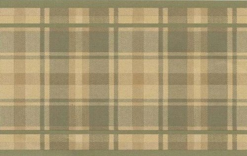 Wallpaper Border Traditional Tartan Plaid Tan (Tan Plaid Wallpaper)