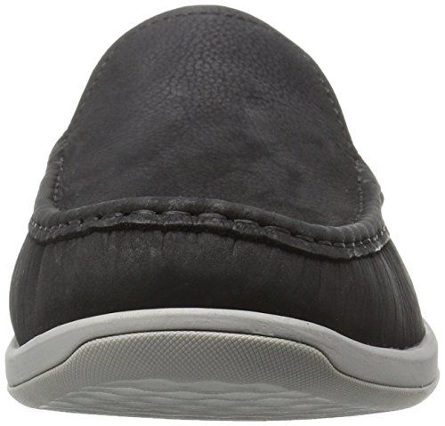 Mens Coppa Da Uomo Slip On Mocassino Nero Nabuk