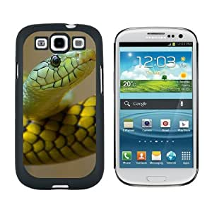 Green Snake - Snap On Hard Protective Case for Samsung Galaxy S3 - Black by ruishername