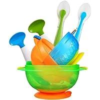 (跨境自营)(包税) Munchkin 满趣健 吸盘碗+左右勺+硅胶勺套装