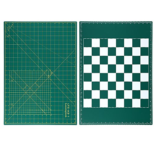 Alvin Mats (LeaningTech LTC-A2 Self Healing Cutting Mat 3-Ply Double Sided(Grid Lines Angles & Chessboard) Durable PVC Great for Scrapbooking, Quilting, Sewing and all Arts & Crafts Projects)