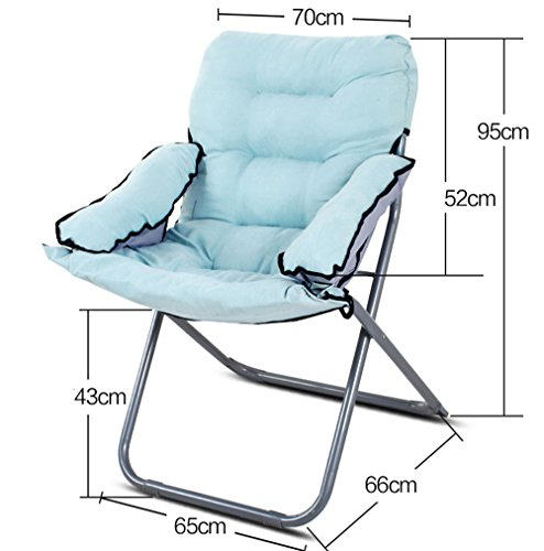 Computer chair / home lazy chair / folding college dormitory balcony office chaise longue / bedroom game chair / chair 65 66 43 / 95cm ( Color : 9 ) by Folding Chair (Image #1)