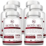 Biotin MD - Extra Strength Pure Biotin 10,000mcg for Improved Hair, Skin and Nail Health; 360 Vegan Tablets; Made in USA