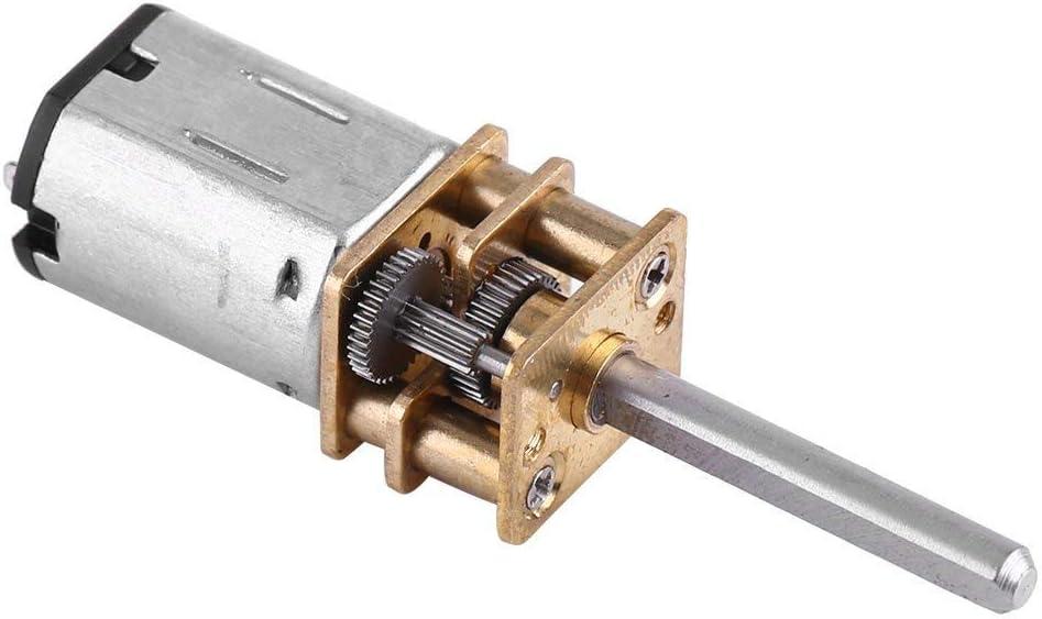 DC 12V Motor de Engranajes Motor de Reducción de Velocidad Motor Micro Motor Reductor de Velocidad con Eje Largo para RC Modelo de Coche Robot DIY 100/200/2000RPM (12V 100RPM)