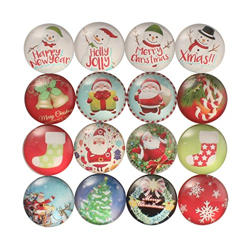 Zicome Set of 16 Refrigerator Magnets for Christmas Party Favor Gifts -