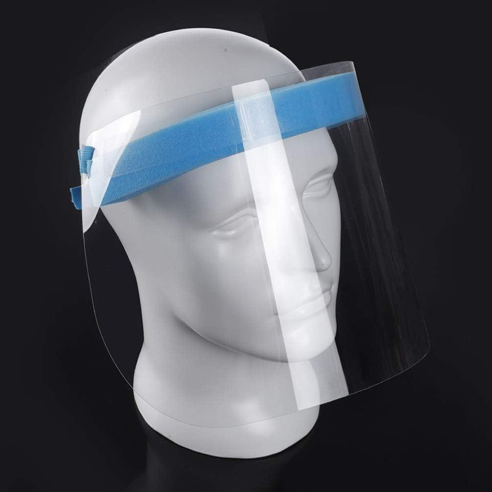 Transparent Exceart 2-Teiliger Sicherheitsgesichtsschutz Wiederverwendbarer Transparenter Atmungsaktiver Visierschutz zum Schutz von Augen Und Gesicht mit Einem Durchsichtigen Elastischen Schutzband