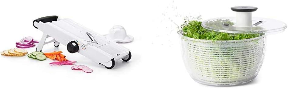 OXO Good Grips V-Blade Mandoline Slicer & Good Grips Salad Spinner, Large