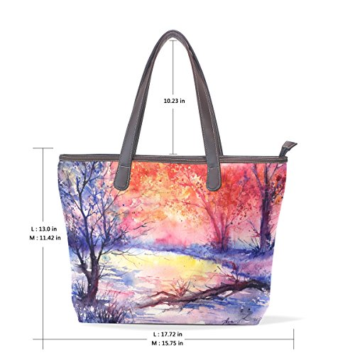 Coosun Ladies Alberi Colorati In Pelle Pu Grande Borsa Shopping Bag A Tracolla